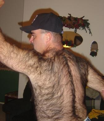 very hairy chest