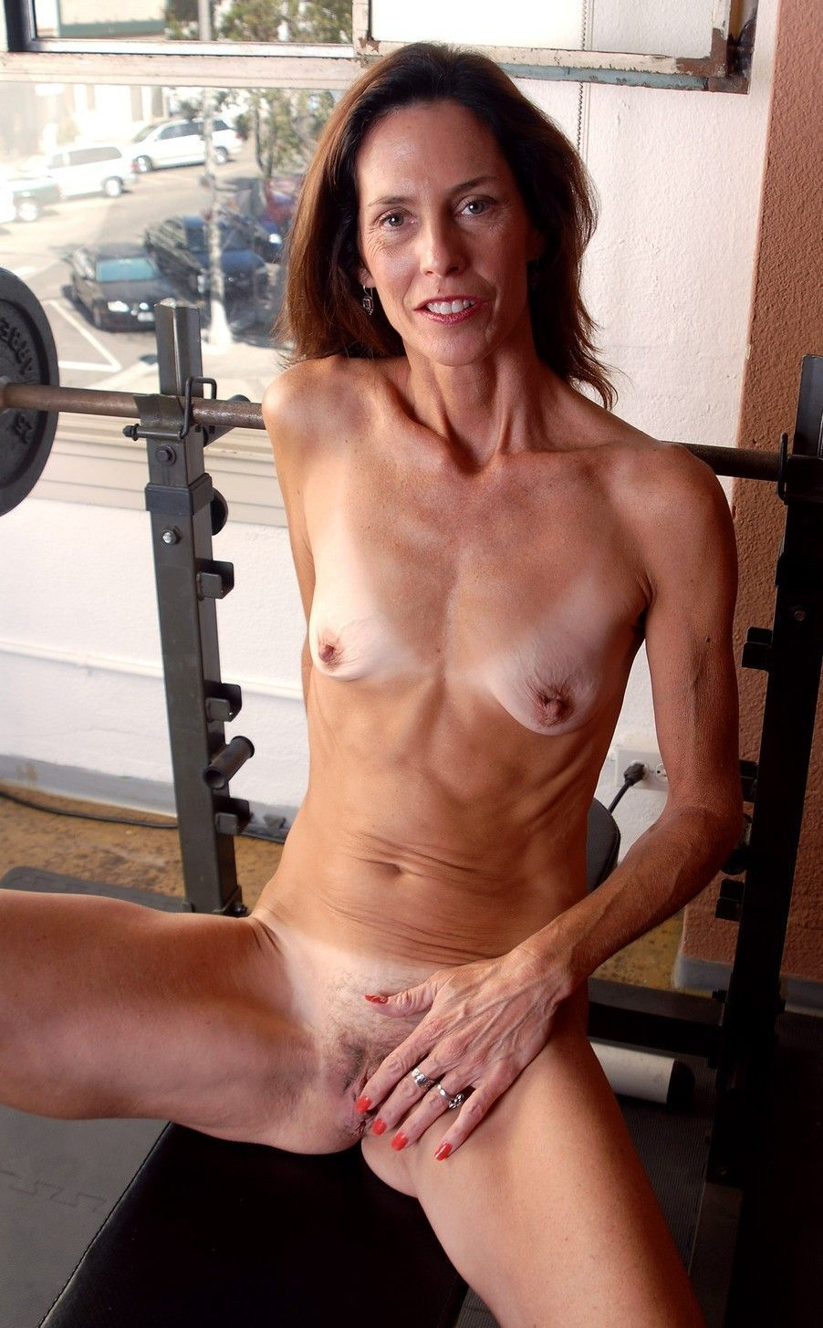 skinny flat chested mature