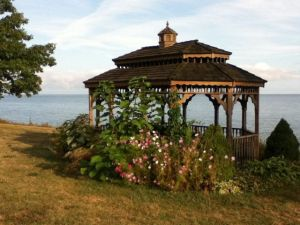 The gazebo at Golden Hills