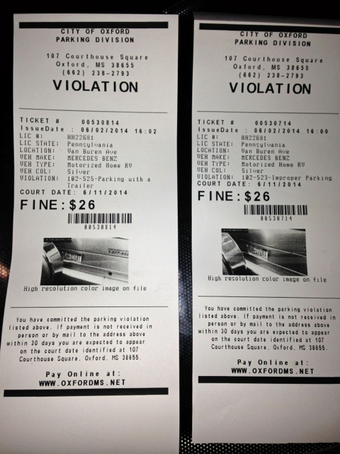 Entrapment Parking Tickets