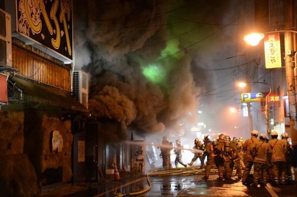 【広島燃えカフェ】火災メイドカフェのメイドたち