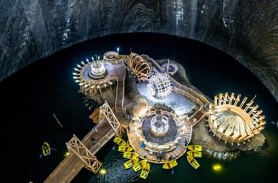 鉱山を改造して作った地底テーマパークがスゴい! ※動画像※