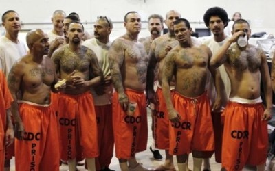 刑務所で囚人たちに輪姦されたブラジル人格闘家の姿