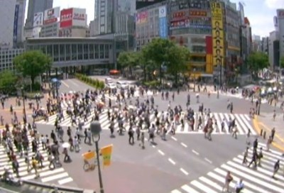 1975年 40年前の渋谷スクランブル交差点