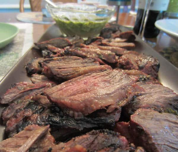 Skirt Steak with Chimichurri Sauce - 2 Cookin' Mamas