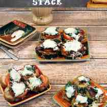 Bacon Tomato Spinach Stack main | 2CookinMamas