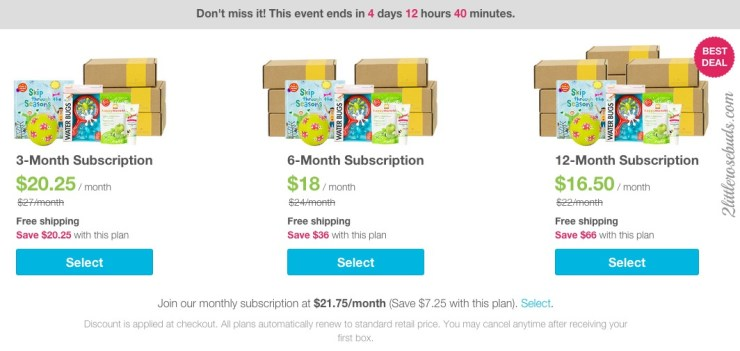 Save 25% on all Citrus Lane monthly subscriptions