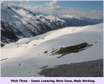 Self-rescue: Scenic Lowering, More Snow, Meds Working - Rätikon, Switzerland