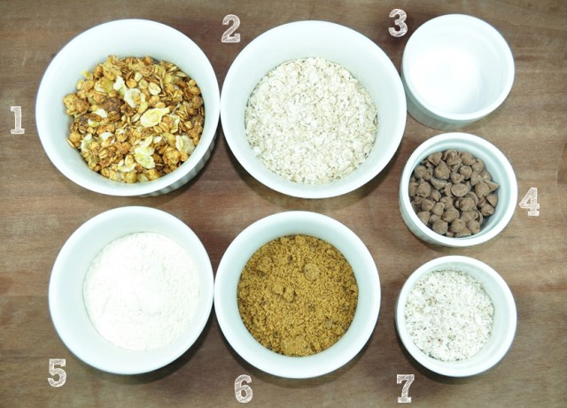 barrinha de granola ingredientes