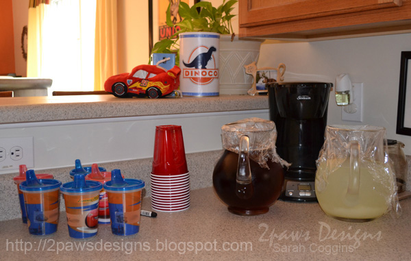 Cars Birthday Party Beverages