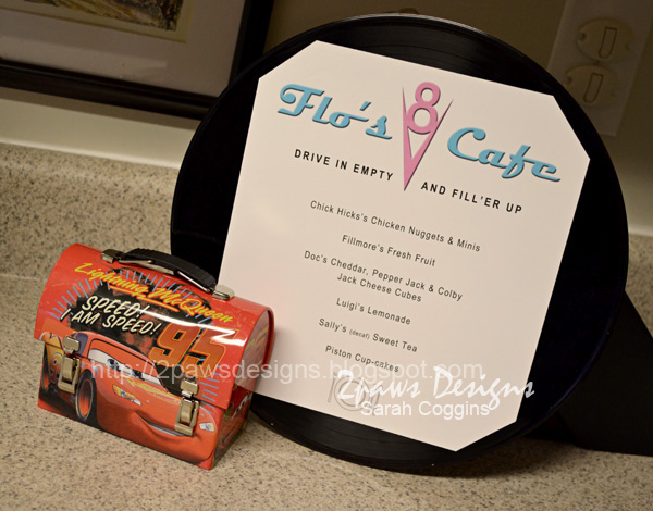 Cars Birthday Party Menu