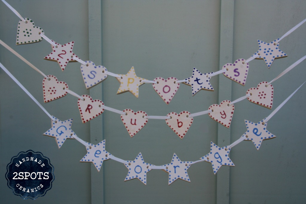 2Spots Ceramics Personalised Bunting