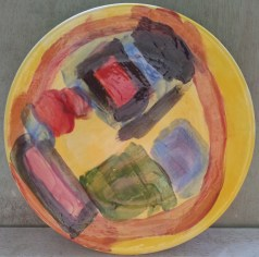 A colourful panited plate