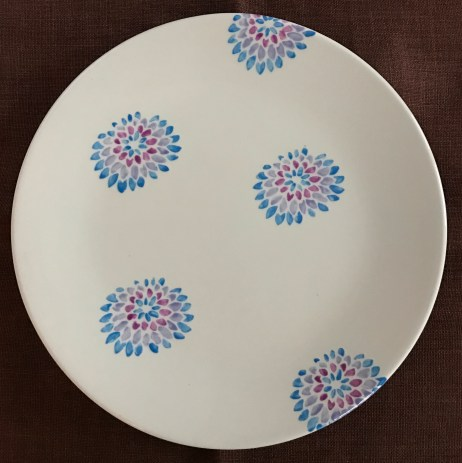ladies noight stencilled plate