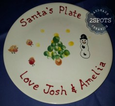 A personalised plate for Santa