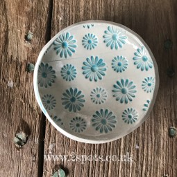 Flower print trinket dish