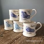 Blue Footprint Mugs
