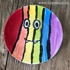 Stripey Smiley Plate