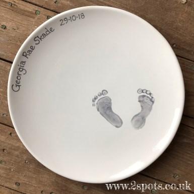 Baby Print platter in grey