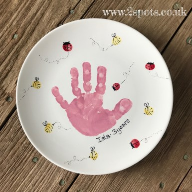Painted Hanprint with fingerprint creatures