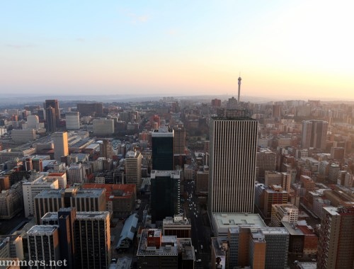 Hillbrow Tower after sunrise