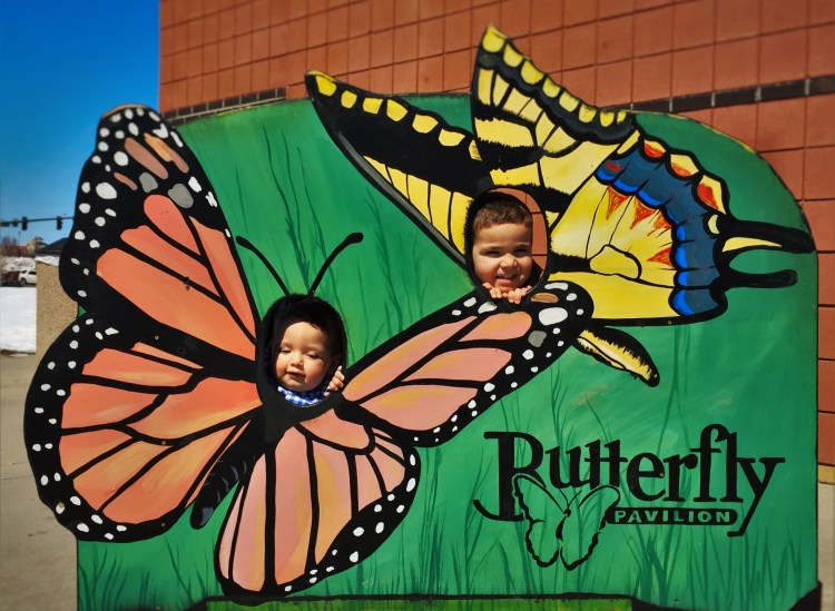 Taylor Kids as Butterflies at the Butterfly Pavilion Denver Colorado 1