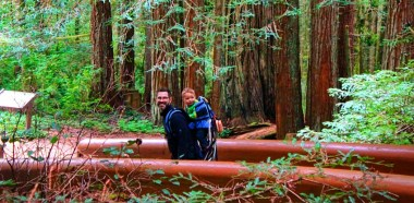 Chris Taylor and LittleMan in Redwood National Park