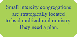 Small intercity congregations are strategically located to lead multicultural ministry. They need a plan.