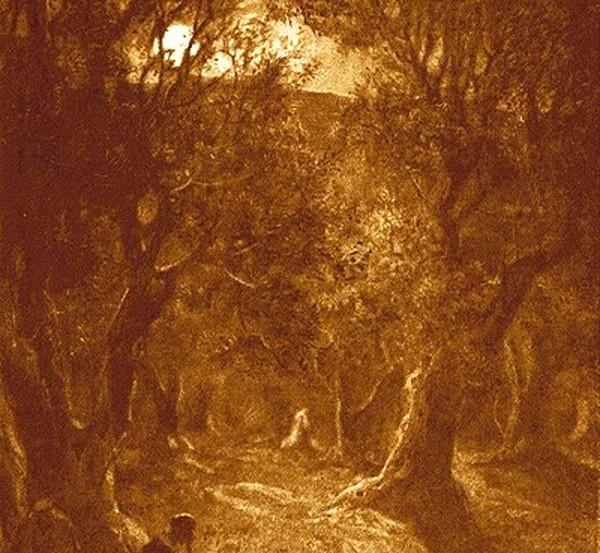 Jesus-praying-in-Gethsemane-by-William-HoleSepia-600-px1-600x553