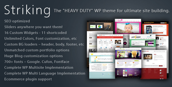 Striking Premium Corporate & Portfolio WP Theme - ThemeForest Item for Sale