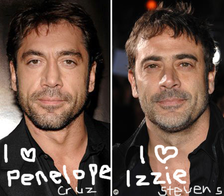 senoderows  javier bardem and jeffrey dean morgan Jeffrey Dean Morgan