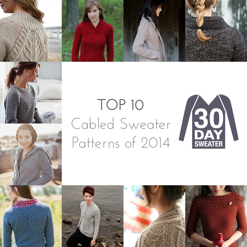 top ten cabled sweater patterns