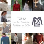 Top 10 Cabled Sweater Patterns of 2014