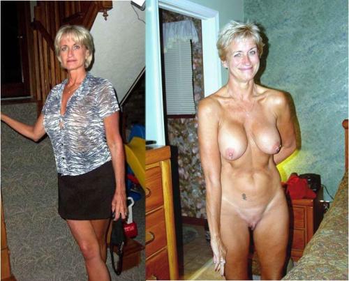elderly dressed undressed