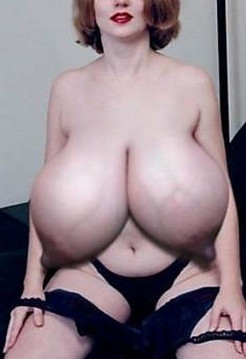 huge sagging breasts