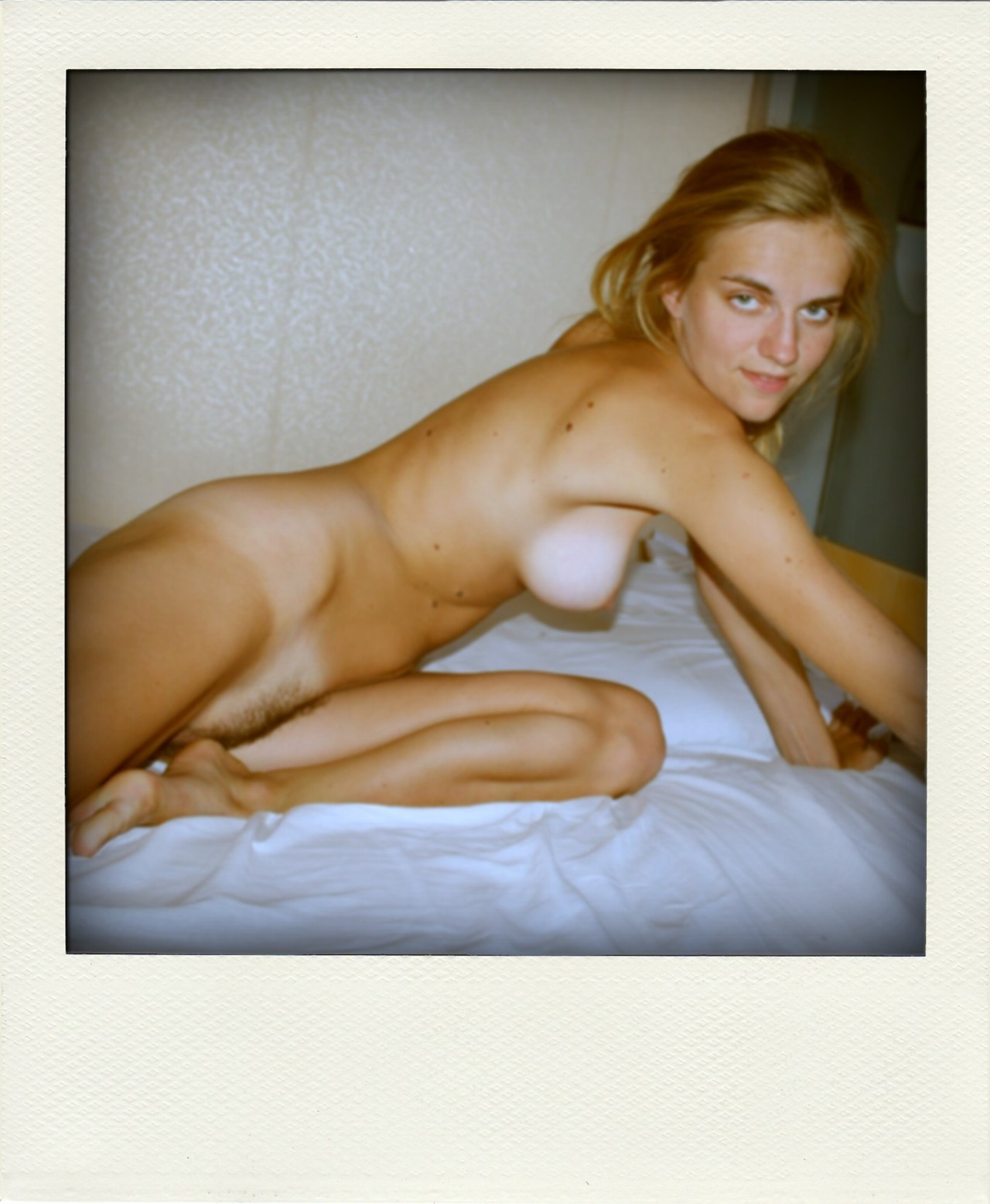 embarrassed polaroid nude