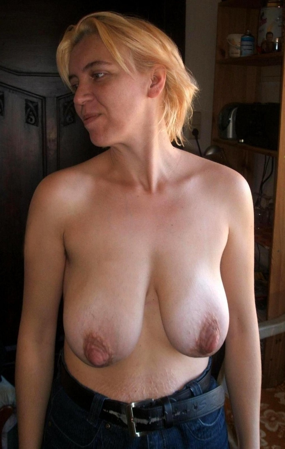 image She has some pointy pierced nipples