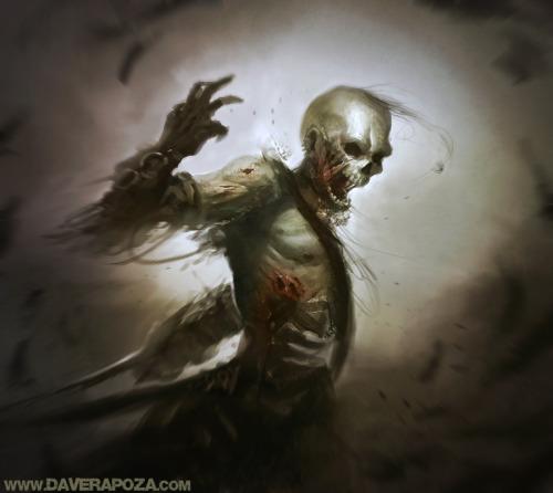 Skeleton by DavidRapozaArt