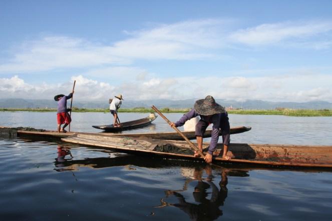 Myanmar : pêcheurs sur le lac Inlé