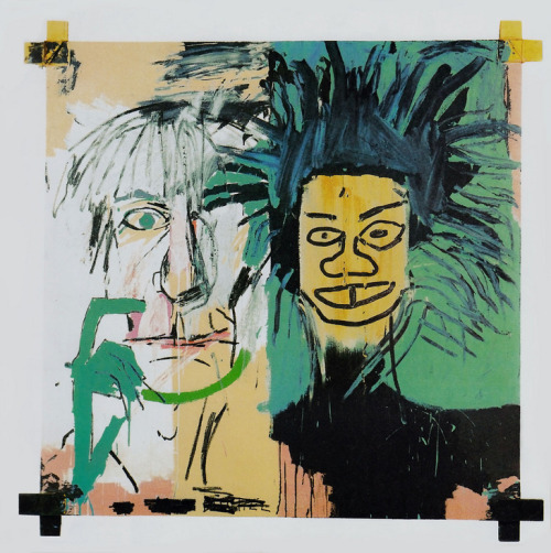 thefiftyeight:Jean-Michel Basquia and Andy Warhol - Self Portrait