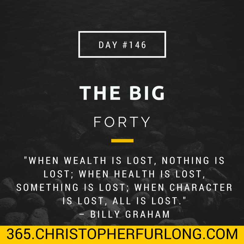Day #146: The Big Forty