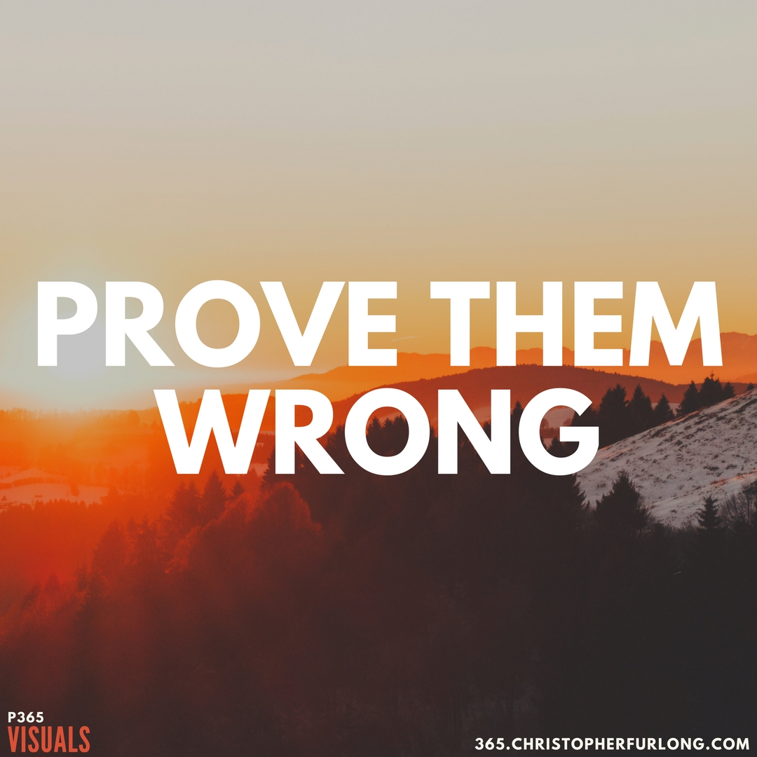 Day #351: Prove Them Wrong