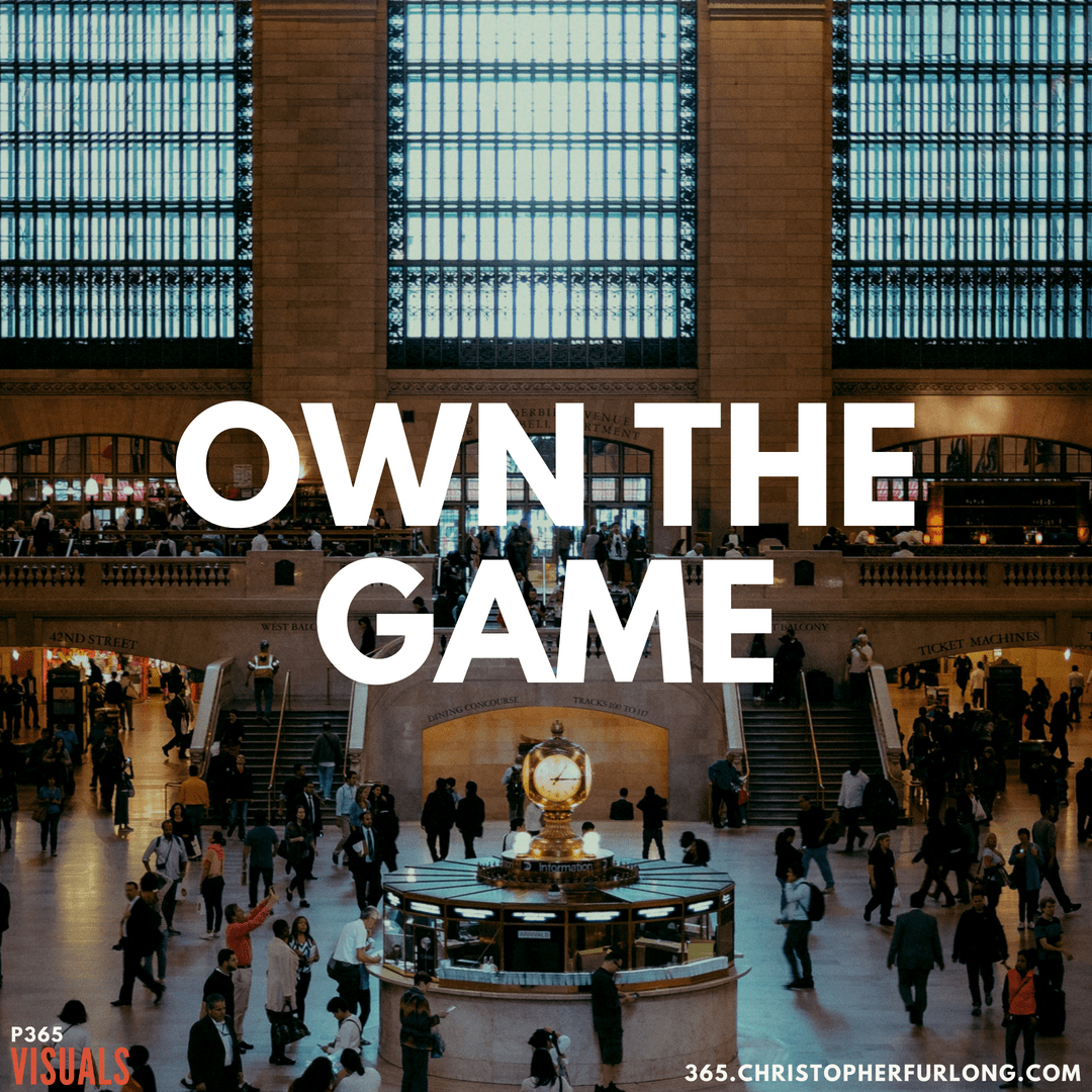 P365 2018: Day #162: Own The Game
