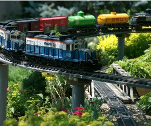 Train Lady Gardens in North Barrington, Illinois