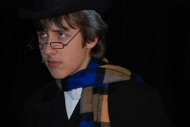 Eighth Grader, Scott Jonske, as Scrooge at Prairie Middle School
