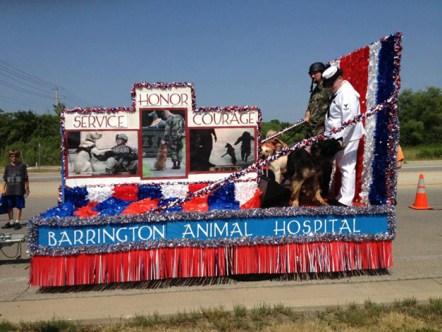 4th of July Parade Grand Prize Winner - Barrington Animal Hospital