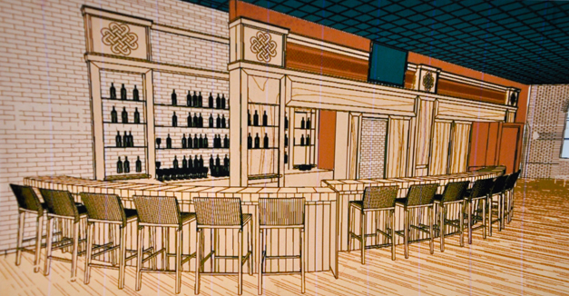 A Drawing of The Annex Opening in Barrington Next Week