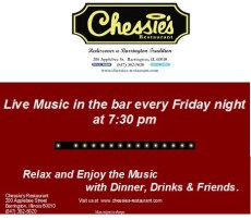 Live Music Fridays at Chessie's Restaurant @ Chessie's Restaurant | Barrington | Illinois | United States