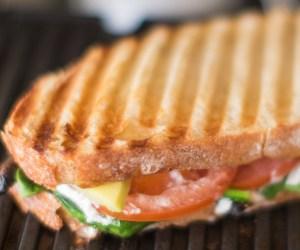 Heinen's 4pm Panic: Goat Cheese Panini and Tomato Basil Bisque