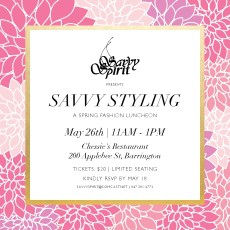 Savvy Styling Luncheon at Chessie's Restaurant @ Savvy Styling Luncheon Thursday, May 26 11am to 1pm at Chessie's Restaurant |  |  |